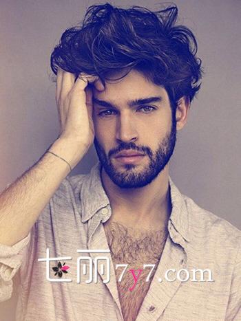 男生软发质适合发型 魅力男标准图片