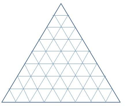 从第四行开始,每行最后的数字是倒着的三角形的个数(也是大小都要数的图片