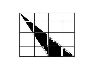 在方格纸上画一个钝角三角形(八年级)面积为4三边都是图片
