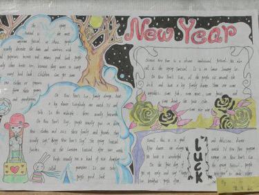 """有哪些""""新年好""""的英语手抄报"""