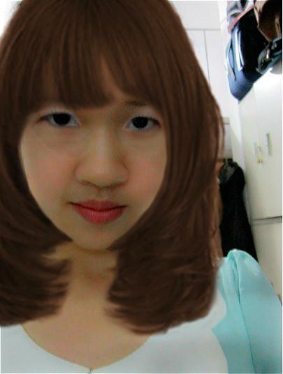 适合少有申字型脸型的发型图片