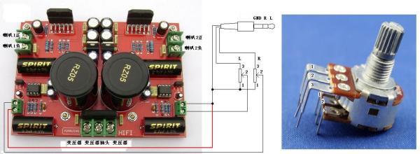 lm3886 lm833功放板做电脑低音炮应该如何接线 高清图片