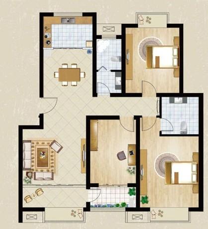 design 新农村三层房屋设计图农村三层住宅120平米图纸带  80平方农村图片