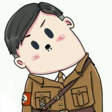 希特勒歪脖图片