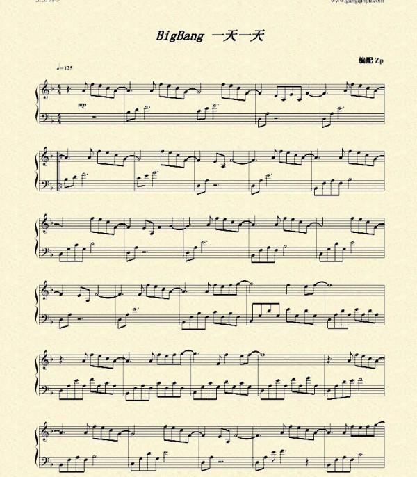 求权志龙 bigbang的钢琴谱 black monster 高清图片